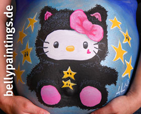 "bellypainting ""kitty"""