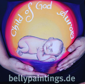 "Babybauchbemalung ""Child of god"""