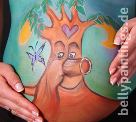 bellypainting Baum