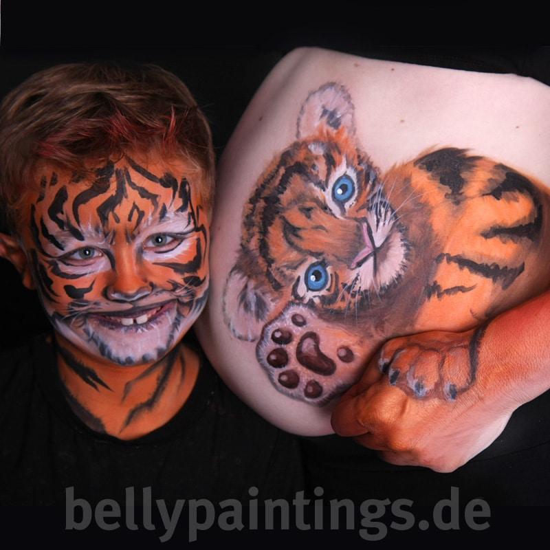 Bellypaint Tiger-Kind