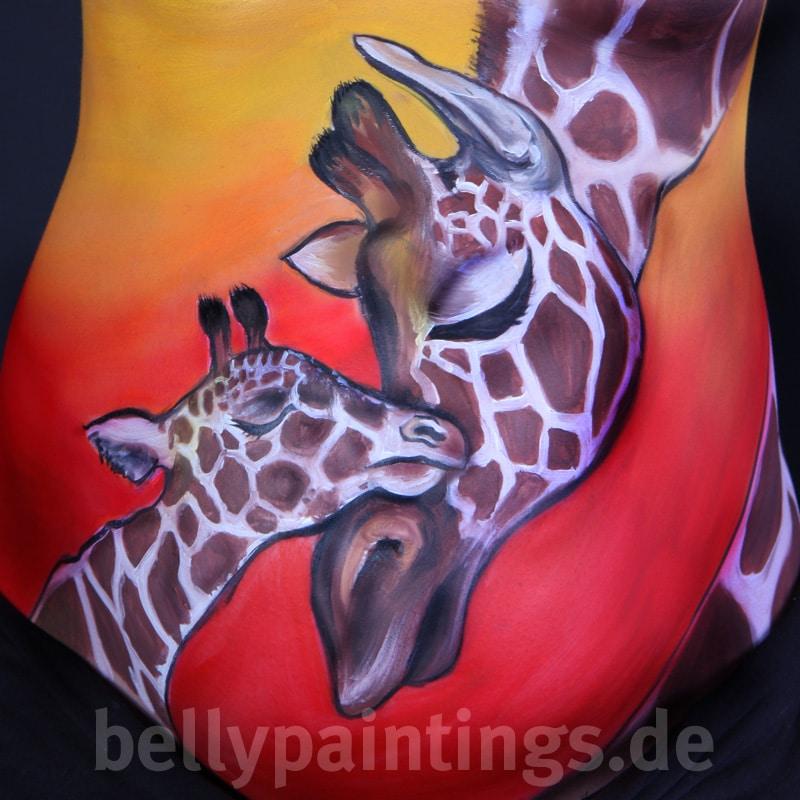 Bellypaint Giraffen