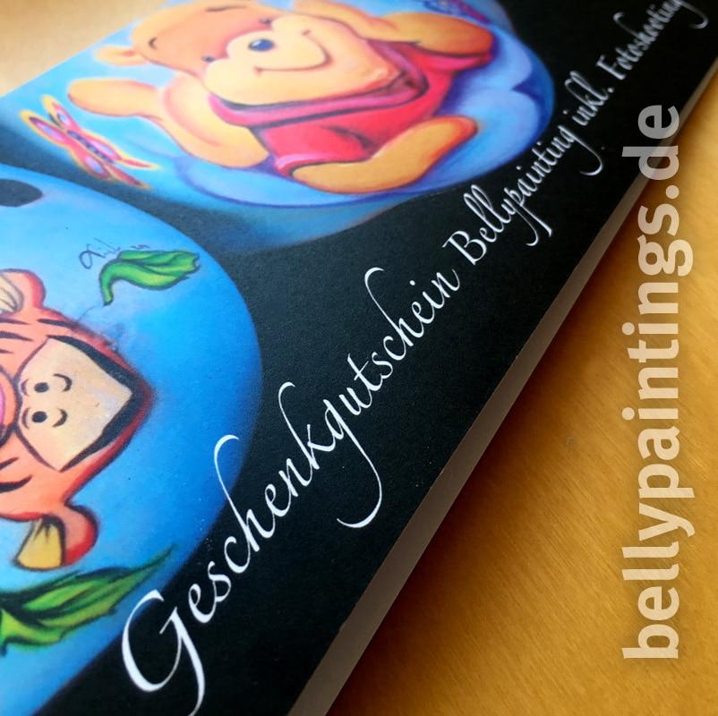 Gutschein für Babybauchbemalung – wundervolle Geschenkidee Bellypainting Bodypainting Schwangerschaft Cover