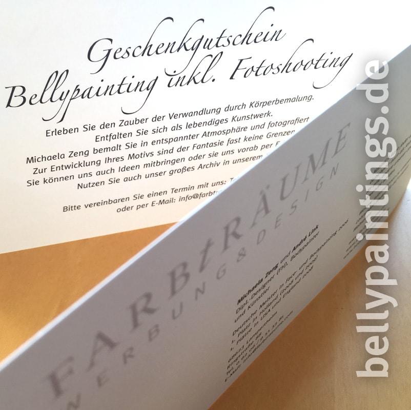 Gutschein für Babybauchbemalung – wundervolle Geschenkidee Bellypainting Bodypainting Schwangerschaft Innen