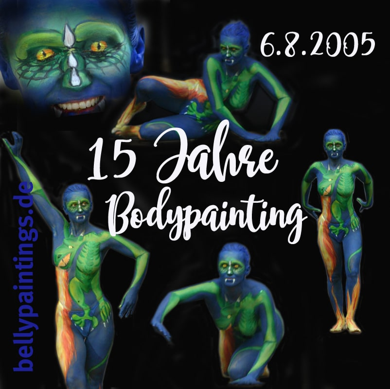 15 Jahre Bodypainting Babybauchbemalung Bellypainting