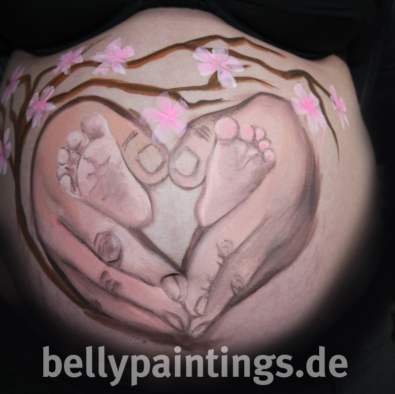 Babybauchbemalung Haendeherz Bellypainting Bodypainting4