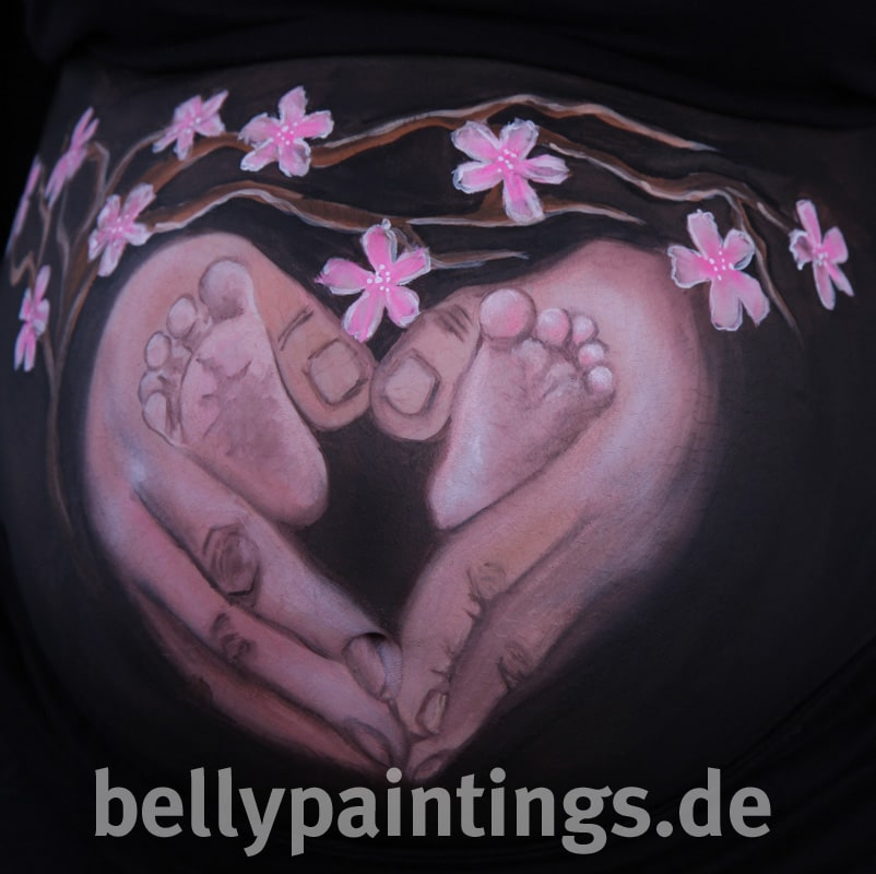 Babybauchbemalung Haendeherz Bellypainting Bodypainting 5